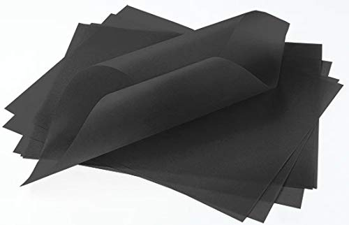 Ebony Black Translucent Vellum - 8 1/2 x 11, 30lb Colors Transparent, 100 Pack by LCI Paper