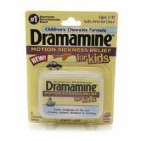 Dramamine for Kids Chewable Tablets Grape Flavor 8 Tablets (PACK OF 2)