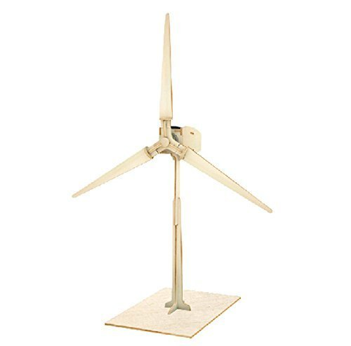 Sunnytech®Solar Power Energy DIY Kits Brick Block Wood Windmill Child Educational 3D Wooden Jigsaw Puzzle Toy (W100) (Wind Turbine Model compare prices)