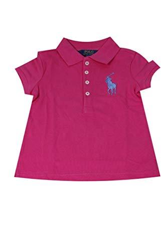 Polo Ralph Lauren Girls Big Pony Polo Shirt (2, Active Pink)