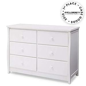 Delta Children Clermont 6 Drawer Dresser, Bianca White