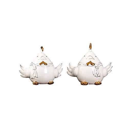 Sculpture Creative Cute Chicken Ornaments European Living Room Modern Minimalist Bedroom Study TV Cabinet Ceramic Ornaments Wedding Gifts LQX (Size : ML)