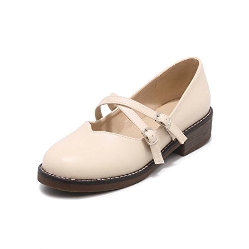 Zapatos de Tacón/La Sra. Primavera y Otoño se capturan Grandes cantidades de Baja como el Calzado, los Zapatos. Beige