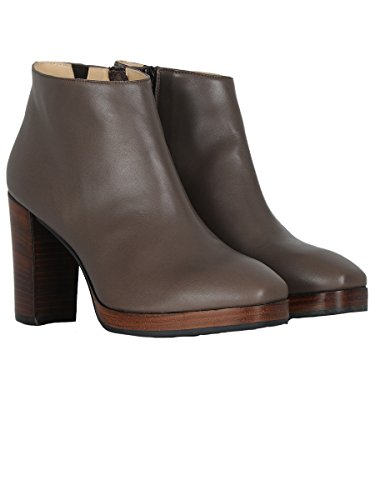 CERVONE FEMME 836LTBROWN MARRON CUIR BOTTINES
