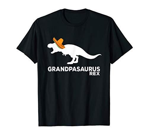 Mens Grandpasaurus Rex Dinosaur Happy Cinco De Mayo T-Shirt Gift