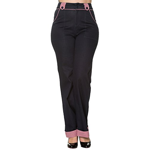Pantalón Campana Azul Para Banned Mujer PzxY4q4