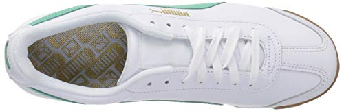 biscay Puma Basic Men's Fashion White Green Roma Sneaker PUMA qXfw0EE