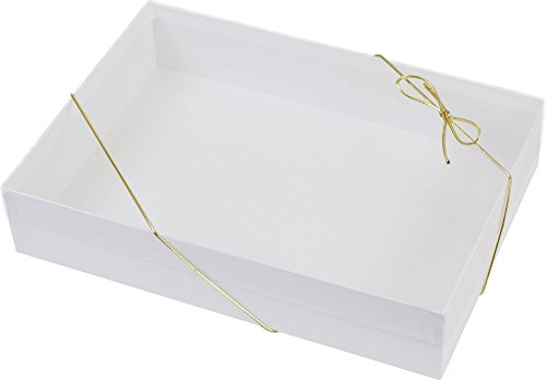 Clear Gift Boxes - Clear Top Boxes w/ White Base, 10 x 7 x 2'' (50 Boxes) - BOWS-510-100702-9 by Miller Supply Inc