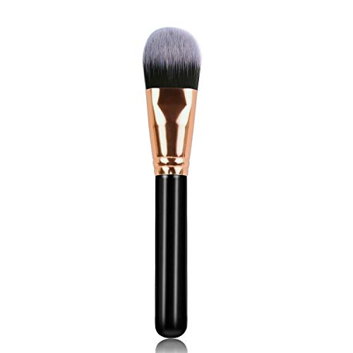 Hanamichi Foundation Makeup Brush Flat Top Kabuki for Face - Perfect For Blending Liquid, Cream or Flawless Cosmetics - Buffing, Stippling, Concealer - Premium Quality Synthetic Dense Bristles