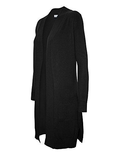 Long Black Cardigan Sweater - 7