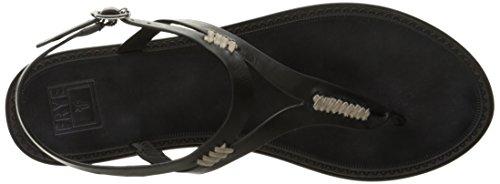 FRYE Mujer Ruth whipstitch Flat Sandal Black-73768