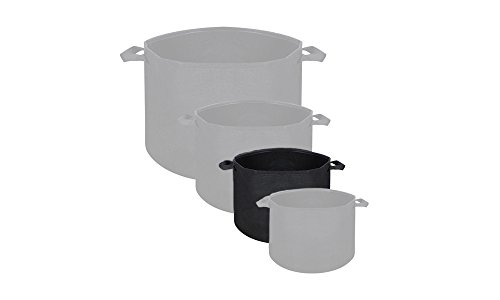 Hydrolux Black Breathable Fabric Grow Bag Planter Smart Hydroponic Plant Container Aerated Pot with Handles (1 Count, 2 Gallon)