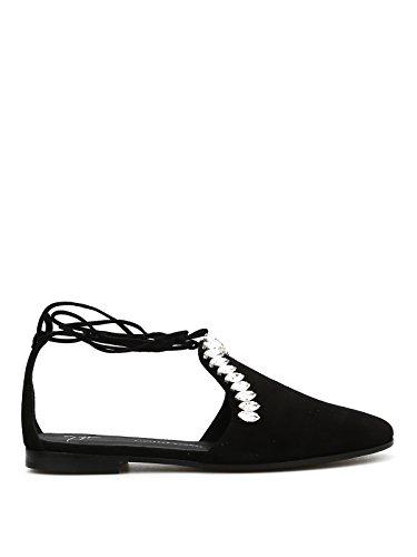 Giuseppe Zanotti Design Women's E75006003 Black Suede Sandals ByJEwkngb