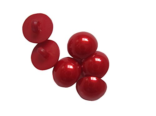 TOPWEL 50pcs Red Plastic Mushroom Beads Safety Solid Eyes for Sewing Crafting Eyes Buttons for Bear Doll Etc (15mm) ()