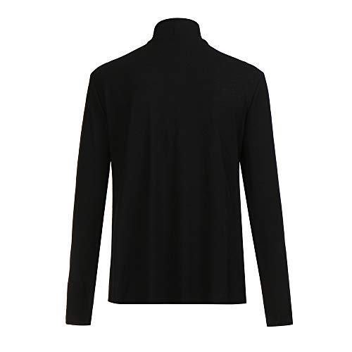 Tops Veste Ouvert Manches Longues Mode Noir Coeur À Bouton Blouson Capuche Blouse Manteau Cardigan Grande Cache Hoodie Sweatshirt Pullover Femme Taille Shobdw Hiver I1q61w