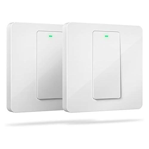 chollos oferta descuentos barato Interruptor de Pared Wi Fi 1 Vía 1 Canal Compatible con Alexa Asistente de Google y SmartThings meross MSS510X Paquete de 2 Se Requiere un Cable Neutral al Instalar