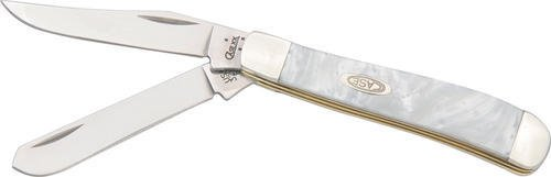 Pearl Mini Trapper (Case Cutlery CA9207WP Mini Trapper White Pearl Closed Hunting Knives, 3 1/2