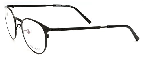 Heles Retro Pure Tianium Full Rim Glasses Optical Frame Eyeglasses, very light in weight, 50/20/143 (black, transparent)