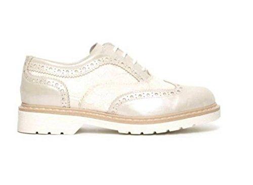 Nero Giardini Junior - Zapatos de cordones para mujer blanco perla (ral 1013)