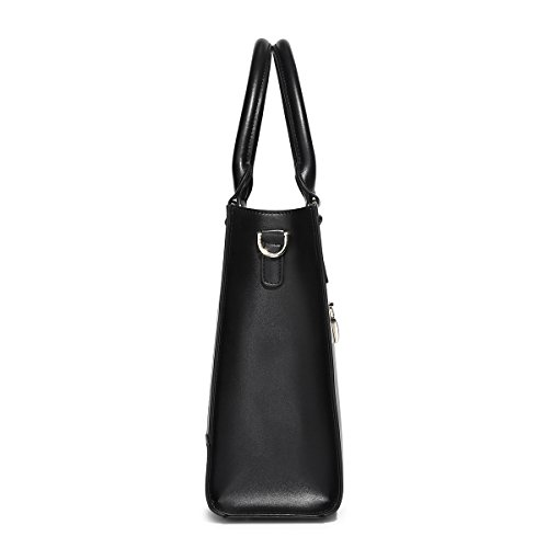 Messenger Top Handbags PU Large Women Fashion Leather Tote Kadell Handle Shoulder Black Bags Satchel w0xA4qT