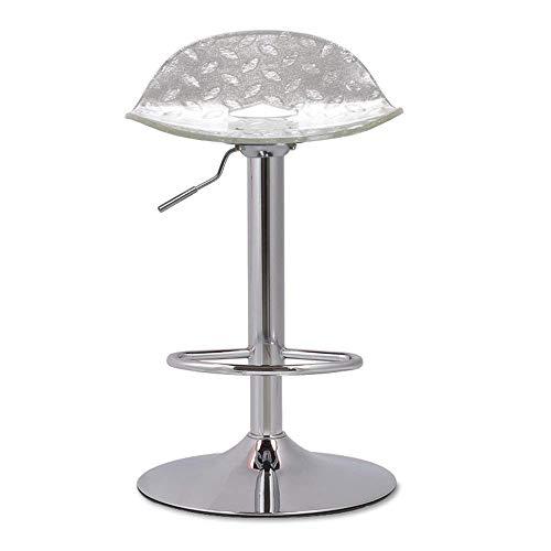 WZC Sillas Recepcion moderna Taburete de bar Taburete de chapa de metal + acrilico Taburete de restaurante de moda gh/B