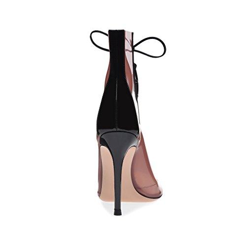 Comfort Sandali Cool Moda Donna Partito Pink Pompa Bocca Stivali Tacchi Ragazze Pesce Alti RaC8wCq
