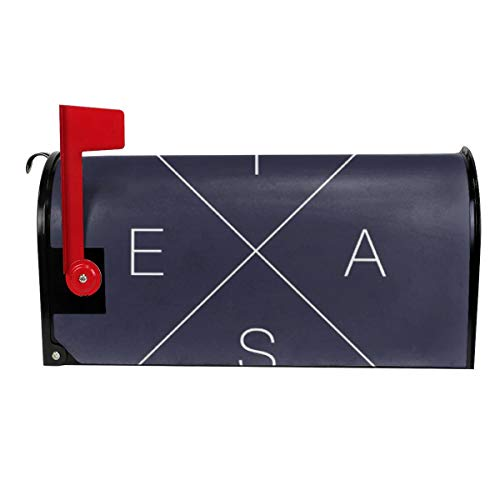 Milyla-ltd Double Sided Criss Cross X Texas Magnetic Mailbox Cover Letter Post Box Cover Wrap Standard Size 21