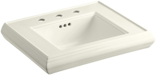 KOHLER K-2239-8-96 Memoirs Pedestal Bathroom Sink Basin with 8