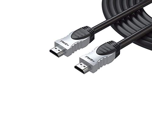 Philips 12' Hdmi Cable - Pwr 12 Feet 4K HDMI Cable 2.0 High Speed - Ethernet 3D Audio Return for TV HDTV LCD Monitor Laptop PS3 PS4 Xbox One 360 Projector Samsung Sony RCA Insignia VIZIO LG Dell Asus Philips Canon Lenovo HP
