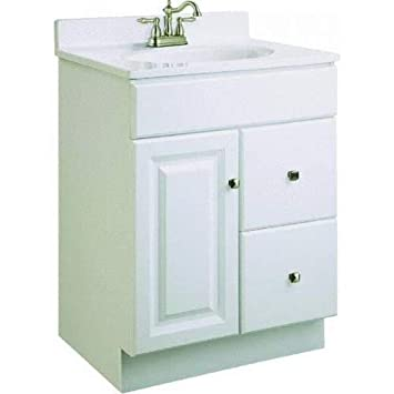 Design House 545053 Wyndham White Semi Gloss Vanity Cabinet With 1