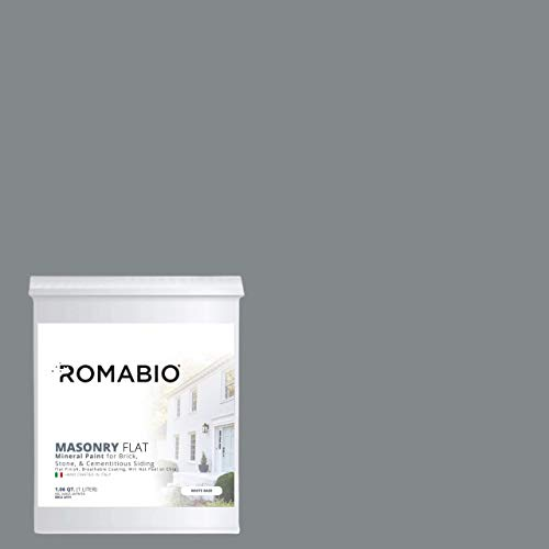 (Romabio Masonry Flat, Italian Mineral Paint, Brick, Stone & Cementitious Siding, River City, 1L)