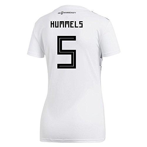 叱るすき確かなadidas Women's HUMMELS # 5 Germany Home Soccer Stadium Jersey World Cup Russia 2018/サッカーユニフォーム ドイツ ホーム用 フンメルス # 5 レディース向け