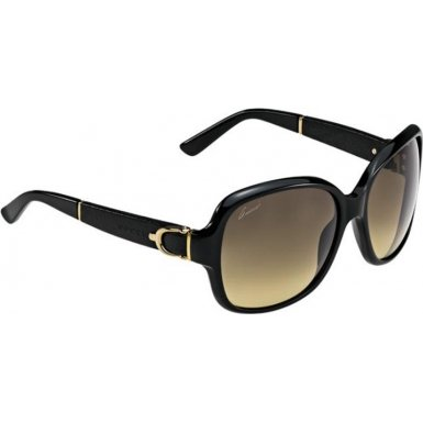 Gucci GG3638/S Sunglasses-075Q Black/Black Leather (ED Brown Gradient - Sunglasses Leather Gucci