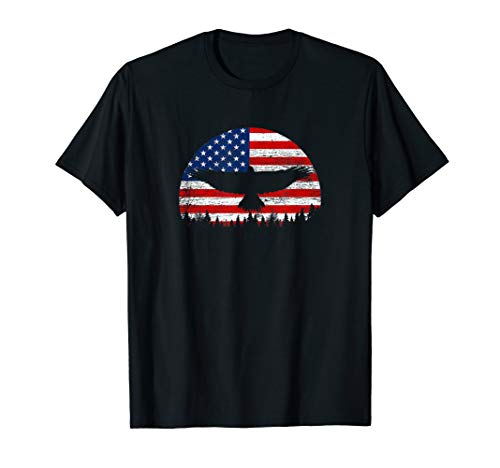Vintage Eagle American Flag T-Shirt 4th of July Patriotic
