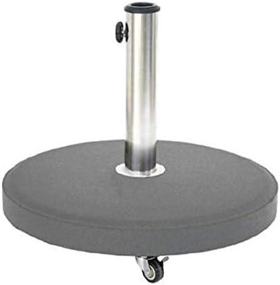 Hesp/éride Pied Parasol Gris Rond 25 kg roulettes