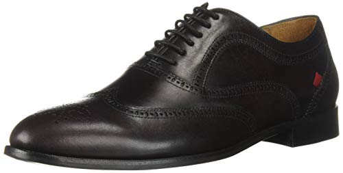 MARC JOSEPH NEW YORK Mens Leather Madison Lace-Up Oxford, Wine Brushed Nappa, 10 D(M) US