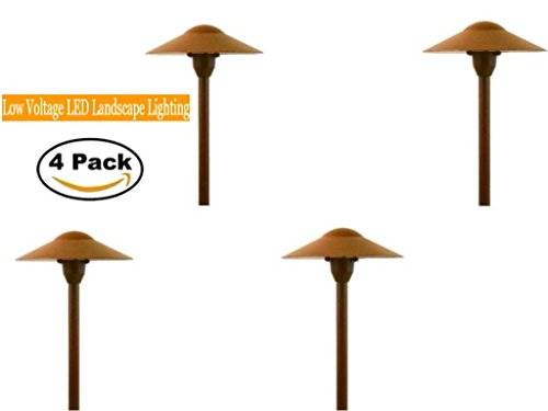 Low Voltage Mushroom Path Light Set of 4 (Mushroom Hat Area Light)