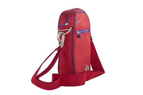 Tracolla uomo VESPA rosso borsello multiscomparto VF239