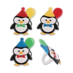 Penguin Birthday Party Cupcake Rings (24-Pack) ()