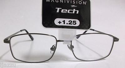 Magnivision Tech Titanium T10 Reading Glasses +1.25 (Gunmetal)