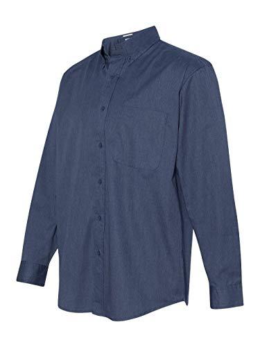 Long Sleeve Teflon Twill Shirt - FeatherLite Long Sleeve Stain Resistant Twill Shirt. 3281 Heathered Navy L