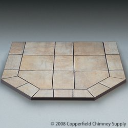 Chimney 49703 Carmel Tile Single Cut Corner Stove Board- 40 in. x 40 in. (American Panel Carmel Tile)