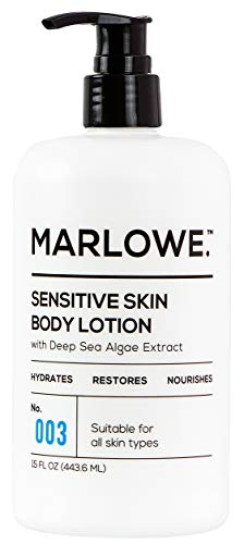 (MARLOWE. No. 003 Sensitive Skin Body Lotion 15 oz | Moisturizing, Fragrance-Free, Natural Lotion for Dry Skin)