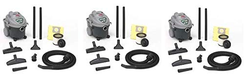 Shop-Vac 5870400 4-Gallon 4.5-PeakHorsepower All Around Wet Dry Vacuum with Lock-On Hose, Tool Cord Storage Dual Filtration, Uses Type AA Cartridge Filter Type D Filter Bag 3- Pack