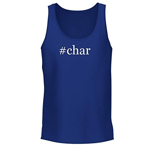 (BH Cool Designs #Char - Men's Graphic Tank Top, Blue,)