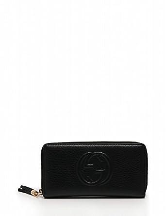 520f003d80fc Amazon.co.jp: (グッチ) GUCCI 長財布 ソーホー インターロッキングG ラウンドファスナー レザー 黒 308004 中古:  服&ファッション小物
