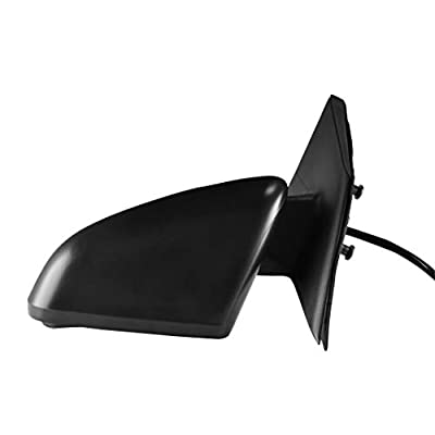 Driver Side Textured Side View Mirror - Power Operated, Non-Folding, Non-Heated Mirror - for 2004-2012 Mitsubishi Galant - Parts Link # MI1320127: Automotive