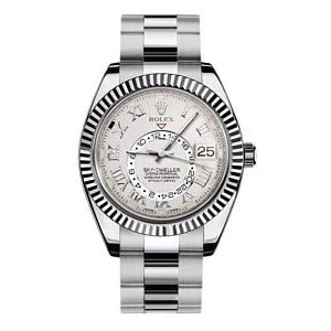 NEW Rolex Sky Dweller 18K White Gold Mens watch 326939