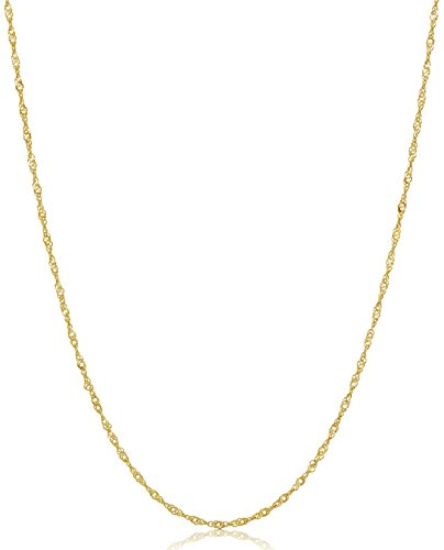 Chain Gold 14k Curb (14k Yellow Gold Twist Curb Chain Necklace, 18