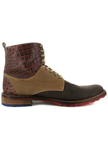 chaussures bottes homme en marron nizza grande matelas MANZ taille qCwSIpP